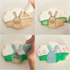 Cartoon Bunny Cookies with Miss Cuit {Guest Post}