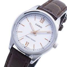 LTP-V005L-7B3 Casio Watch Couple Watch, Casio Watch, Omega Watch, Watches, Leather, Dress, Accessories, Dresses, Clocks