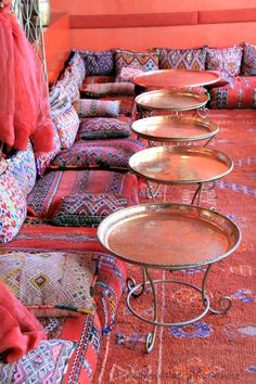 At Café Arabe in the Medina of Marrakech, Moroccan style cocoons you in vivid carpeted, cushioned interiors . Cafe Interior Design, Cafe Design, House Design, Hookah Lounge Decor, Turkish Cafe, Middle Eastern Decor, Moroccan Design, Moroccan Style, Cosy Cafe