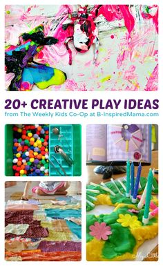 Over 20 Creative Kids Play Ideas from The Weekly Kids Co-Op at B-Inspired Mama