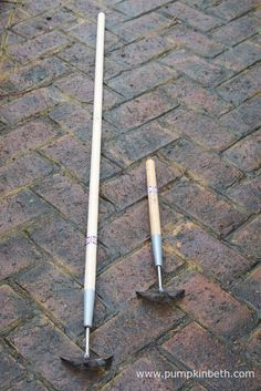 The Burgon & Ball Weed Slice and the Burgon & Ball Short Handled Weed Slice together. From this angle you can see the tilted angle of the Weed Slice's blade. Garden Tools, Garden Ideas, Retirement, Weed, Blade, Gift Ideas, Christmas, Xmas, Yard Tools