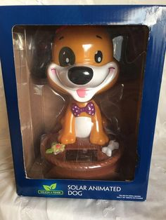ce87477fbaf Large Solar Battery Operated Animated Puppy Dog Bobble Head Christmas Toy  in Home   Garden