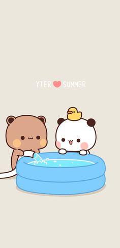 Cute Love Pictures, Cute Cartoon Pictures, Cute Love Gif, Cute Cat Gif, Cute Bunny, Cute Little Drawings, Girly Drawings, Niedlicher Panda, Cute Panda