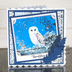 Handmade Card : This card has been made using the Pollyanna Pickering Wild Birds dvd-rom. Masculine Birthday Cards, Handmade Birthday Cards, Masculine Cards, Handmade Cards, Art Pad, Owl Card, Craftwork Cards, Button Cards, Wild Birds