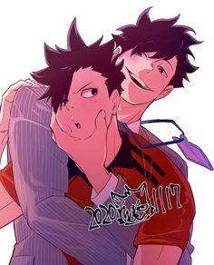 Haikyuu Nekoma, Kuroo Tetsurou, Haikyuu Manga, Haikyuu Fanart, Kenma, Anime Manga, Hot Anime Boy, Anime Guys, Anime Bebe