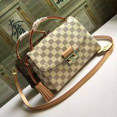 LV elegant design Croisette Damier Azur canvas handbag  M41581 SIZE:25X18X9CM G4 whatsapp:+8615503787453