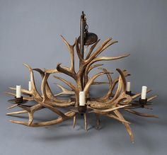 How to make antler lamps how to make deer antler chandelier how to make an antler chandelier diy tutorial chandelier top diy chandeliers aloadofball Choice Image