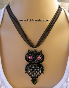 Pretty Little Liars Owl Necklace with Flash by DreamWeaverDesigns, $49.95