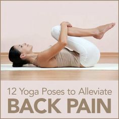 Yoga can be great for pain and stress relief!  Try these yoga poses next time you are experiencing back pain!