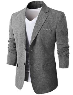Find Mens Slim Fit Suits Casual Solid Lightweight Blazer Jackets One Button Flap Pockets online. Shop the latest collection of Mens Slim Fit Suits Casual Solid Lightweight Blazer Jackets One Button Flap Pockets from the popular stores - all in one Mens Casual Suits, Mens Suits, Blazers For Men Casual, Smart Casual, Look Fashion, Mens Fashion, Fashion Tips, Slim Fit Suits, Fitted Suit
