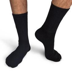 3ab53bb808 Black Men's Socks - the classic among socks Gildan Men's Black Crew Socks  GL751 - Evan