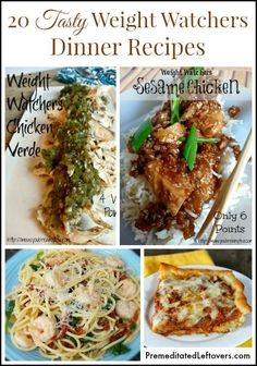 20 delicious Weight Watchers Dinner Recipes with points plus calculated. All of these Weight Watchers dinner recipes are less than 10 points.