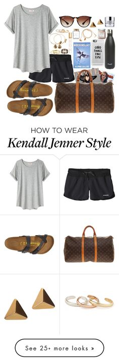 """""""~eat,travel,live~"""" by mhallmark on Polyvore featuring moda, Louis Vuitton, Patagonia, Organic by John Patrick, Birkenstock, S'well, Casetify, Happy Plugs, Laura Mercier y Tory Burch"""