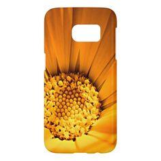 Bright orange daisy samsung galaxy s7 case