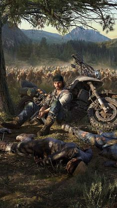 Days Gone, Wallpaper – Graffiti World Hd Wallpapers For Mobile, Gaming Wallpapers, Video Game Art, Video Games, King's Quest, Day Gone Ps4, Zombies, Gaming Posters, Apocalypse Art