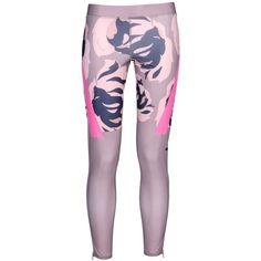 Adidas By Stella Mccartney Leggings (470 GTQ) ❤ liked on Polyvore featuring pants, leggings, light brown, multicolor leggings, purple jersey, purple leggings, legging pants and slim fit pants