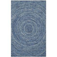 Safavieh Handmade Ikat Dark Blue/ Multi Wool Rug (6' x 9'):  Braeden's room