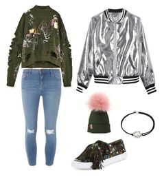 """Green day"" by marutza28 ❤ liked on Polyvore featuring Dorothy Perkins, Loeffler Randall, Sans Souci and Alex and Ani"