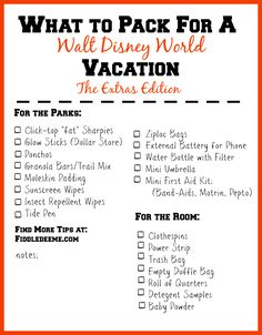 What to Pack for a Walt Disney World Vacation