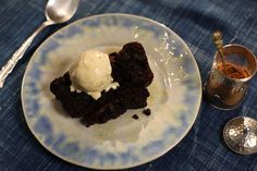 Argan oil chocolate brownie with orange cinnamon ice-cream | Chocolate | SBS Food