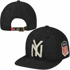 New York Yankees Natural Woolen Strapback Adjustable Hat - Gray