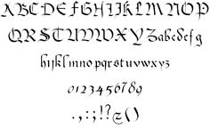 A neat bastard font by George Williams