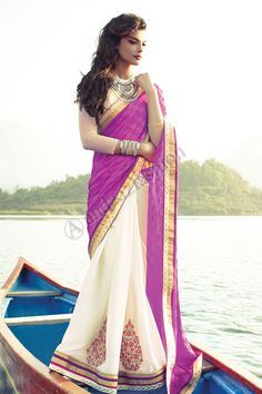 Rose Blanc Brasso Georgette Saree avec Chemisier blanc Conception n ° DMV7292 Prix- 56,77 Type de robe: Saree Tissu: Georgette Couleur: rose avec blanc Décoration: brodé, Resham, Zari Pour plus de détails: - http://www.andaazfashion.fr/pink-white-brasso-georgette-saree-with-white-blouse-dmv7292.html