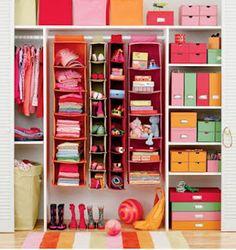 Organized closet. Oh How I wish!