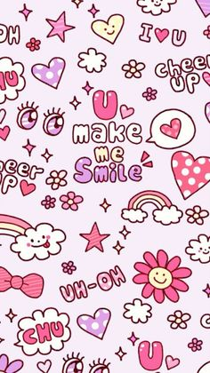 iPhone 壁纸 锁屏 微信 背景 平铺 手绘 插画 Valentines Wallpaper Iphone, Ipod Wallpaper, Heart Wallpaper, Kawaii Wallpaper, Girl Wallpaper, Mobile Wallpaper, Wallpaper Quotes, Cool Backgrounds Wallpapers, Pretty Wallpapers