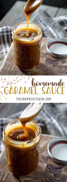 Ditch the store-bought jar!Homemade Caramel Sauce can be yours to drizzle over whatever you please in about 20 minutes with only 3 ingredients! #homemade #diy #caramel #sauce #dessert #recipe Homemade Caramel Sauce, Caramel Recipes, Fall Recipes, Holiday Recipes, Holiday Ideas, Cobbler, Sauce Recipes, Cooking Recipes, Sauce Tartare