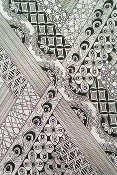 Джуди Zentangle творения: галька, шаг за шагом, путем Урсула