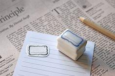 japanese Hanko TAG Ceramic Rubber stamp. $10.00, via Etsy.