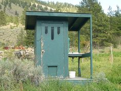 Ode to the Outhouse! This makes me laugh, but I can say IT IS a great idea! Wow, with a sink.