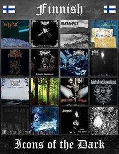 Somehow underrated Finnish Black Metal! Black Metal, Rock Y Metal, Heavy Metal Shirts, Metal Bands, Rock Bands, Hard Rock, Culture Album, Metal Meme, Extreme Metal