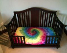 Fitted Crib Spiral Tie Dye Sheets