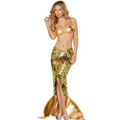 2 Pcs Adult Mermaid Fantasia Halloween Costumes for Party Sexy Women Carnival Fancy Mermaid Costume