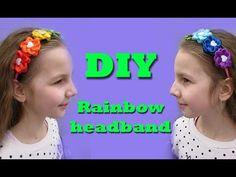 How to make a rainbow headband/diy kanzashi