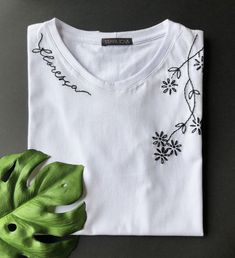 Wow check out this cool Embroidery Ideas - what a very creative theme Embroidery On Clothes, Shirt Embroidery, Embroidered Clothes, Hand Embroidery Stitches, Hand Embroidery Designs, Embroidery Patterns, Embroidery Hoop Art, Creative Embroidery, Custom Clothes