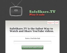 Use safe share in the classroom to prevent awkward ads on YouTube.