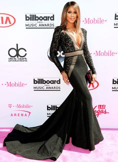 Billboard Music Awards 2016: All the Best and the Boldest Looks from the Red Carpet | People - Laverne Cox in a black Michael Costello dress