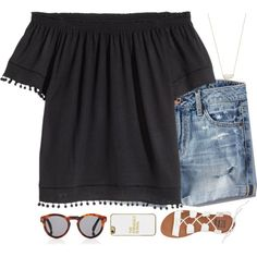 A fashion look from July 2016 featuring H&M blouses, American Eagle Outfitters shorts and Billabong sandals. Browse and shop related looks.