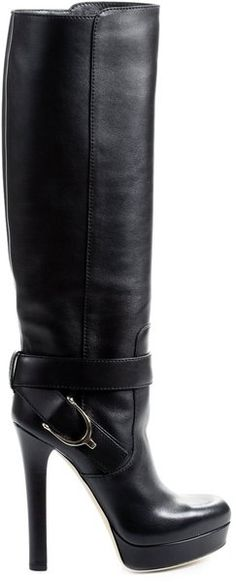 GUCCI Leather Boot With Stirrup <3