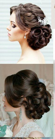 - Hair and beauty Wedding Hair And Makeup, Bridal Hair, Hair Makeup, Quince Hairstyles, Bride Hairstyles, Peinado Updo, Hair Upstyles, Quinceanera Hairstyles, Bridesmaid Hair