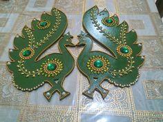 Peacock  wall hanging # decorative # handmade Peacock Rangoli, Character Design, Wall, Handmade, Decor, Hand Made, Decoration, Walls, Decorating