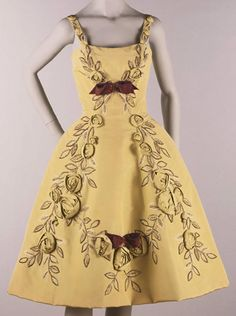 Woman's Cocktail Dress    Made in Italy, Europe  c. 1961    Designed by Emilio Schuberth, Italian, 1904 - 1972