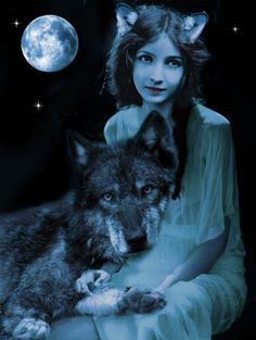 Lilian Wolf Woman by Mystical Mayhem Chris Martin, Wolf Spirit, Spirit Animal, Myth Stories, Wolves And Women, Bessie Love, Daddys Little Princess, Bleu Violet, Mystical Forest