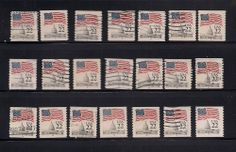 PNC S#s 2115 & b - 22c Flag Over Capitol + Test Coils- 7 MNH  14 Used  CV $45.00