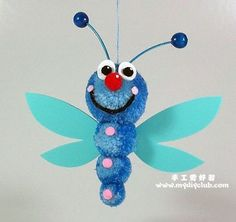 dragonflies crafts for kids | Pom Pom Dragonfly