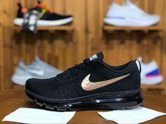25c2a0c23b3 Mens Nike Air Max Flyknit 2014 Running Shoes Black Gold 845615 993 Black  Running Shoes