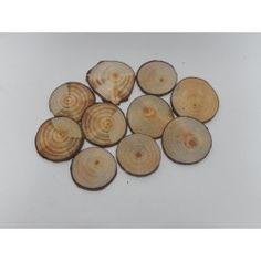 RODAJAS REDONDAS PINO 8-9cm (12 uds) #natural #madera #materiales #decoración